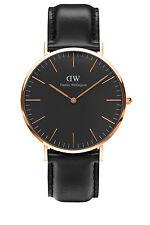 Daniel Wellington DW00100127 Classic Sheffield Black Rose Gold Watch