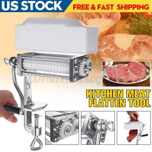 Meat Tenderizer Cuber Cast Iron Flank Steak Kitchen Machine Flatten Clamp Tool