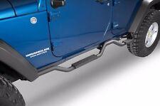 """Rampage Slimline 2"""" Side Bars Recessed Step 2007-2017 4dr Jeep Wrangler JK 26628"""