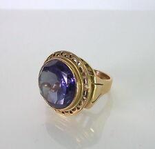 toller Goldring mit schönem Amethyst - 585 Gold - 12,6g - Größe 15,5mm