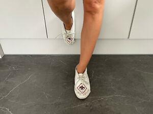 Minnetonka Vintage 1970s Womens Thunderbird Beaded Moccasin Shoes/Booties UK 6.5