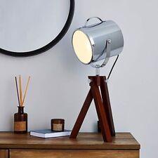 Dark Wood And Metal Table Lamp