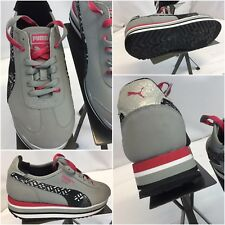Puma Roma Running Shoes Sz 7 Women Gray Leather NWOT YGI J8S-82