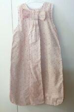 Verbaudet turbulette tissu rose à fleurs sans manche 90 cm 12 mois