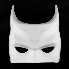 All White Batman men Masquerade Mask Costume Prom Party Blank Simple Mask