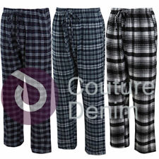 Mens Check Pyjamas Bottoms Cotton PJ's Lounge Pants Nightwear Warm Comfy Woven