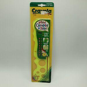Vintage 1998 Crayola School Calculator & 10 Inch Ruler NOS