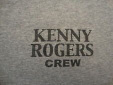 Rare Kenny Rogers Road Crew Country Western Concert Tour gray T Shirt XL