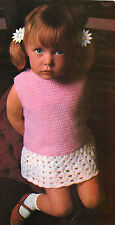 Vintage crochet pattern-how to make a cute baby, toddlers, drop waist dress
