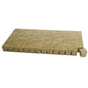 "Grodan 1.5"" x 1.5 inch 6 / 12 / 50 Cubes -Stone Rock wool A OK 1 Starter Plugs"