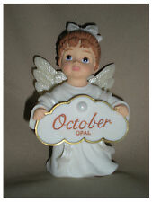 BIRTHSTONE ANGEL FIGURINE - OCTOBER - OPAL  - JEANE'S THINGS