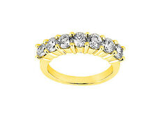 1.75ct Diamond Wedding Ring 10k Yellow Gold Round Brilliant Cut I SI2 Channel