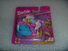 """Barbie Shoes - Mattel """"Little Extras"""" For Flat Foot Dolls  12 Pair 4 Styles HTF"""