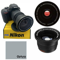 AUTO FOCUS HD FISHEYE MACRO LENS FOR NIKON D3400 D3500 D5600 WITH 18-55MM LENS
