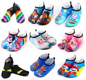 Kids Aqua Shoes Boys Girls Water Shoes Summer Beach Swimming Diving Socks Size