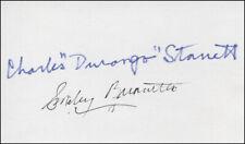 "SMILEY (LESTER) BURNETTE - AUTOGRAPH CO-SIGNED BY: CHARLES ""DURANGO"" STARRETT"