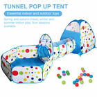 3 IN 1 KIDS PLAY OCEAN TENT BABY TUNNEL BALL PIT CHILDREN POP UP PLAYHOUSE