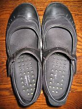 Womens Clarks Black Leather Mary Jane Shoes 7 N