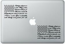 The Pledge American Flag Sticker Two Sets(2x) Decal Stickers Laptop Car Truck