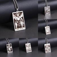 Wicca Tarot Card Waite Major Arcana Pagan Pendant Amulet Necklace Wiccan JeweYAN