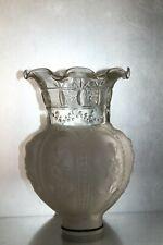 Grand Globe Vintage PÂTE DE VERRE et verre dépoli HT25cm pour LAMPE,lustre...