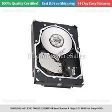 "118032512-A01 EMC 500GB 7200RPM Fibre Channel 4 Gbps 3.5"" 8MB Hot Swap HDD"