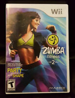 "ZUMBA FITNESS 2 - Nintendo Wii 2011 ""Party Yourself into Shape"" FREE Shipping!"