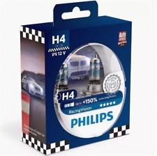 Philips Racingvision H4 Jusqu'à 150% Plus de Lumière Lampe à Halogène 12342RV+