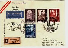 1948 Austria Cover Registered with 4 Semi-Postal Stamps - Scarce Item