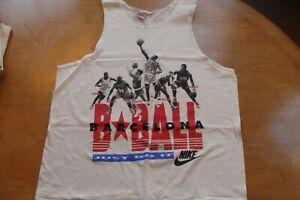 🏀NIKE Michael Jordan 1990s T-Shirt LG Tanktop VINTAGE Olympics Pippen 92 RARE