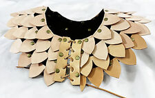 Leather Dragon Scale Armor Mantle - Shoulder Chest Guard/Gorget/Pauldron/Lar p