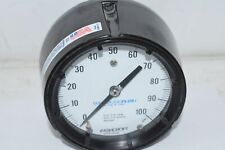 Ashcroft Duragauge Plus 4.5'' Pressure Gauge 0-100 PSI Back Mount