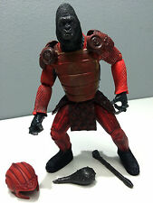 "2001 PLANET OF THE APES 6"" APE COMMANDER with BATTLE HELMET, CLUB & MACE LOOSE"