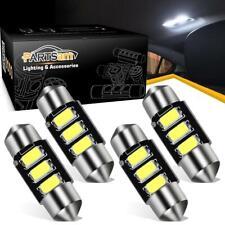 4Pcs 6000K White 31mm LED Festoon Error Free Dome Map Light lamp Car Bulb DE3021
