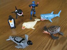 SEA LIFE ACTION PLAY SET K&M INT 2001 - 7 PIECES