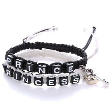 Prince and Princess Couple Bracelet Lock Key King Queen His Hers Love Friendship