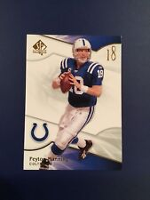 2009 Upper Deck SP Authentic # 92 PEYTON MANNING Colts Hall Of Fame QB RARE Look