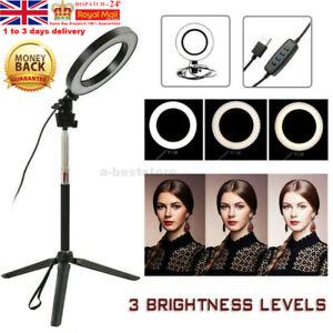 "6"" LED Ringlicht Ringleuchte Lampe Make-up Dimmbar Video Konferenz Beleuchtung"