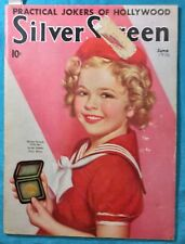 RARE SHIRLEY TEMPLE Cover June 1936 Silver Screen  Magazine
