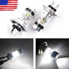 2x H7 100W High Power LED 6000K White Fog Light Daytime Running Lamps Bulbs USA