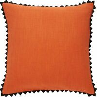 Habitat Perci Coral Triangle Edge Cotton Cushion 45 X 45cm Scatter Couch Settee