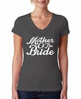 Mother Of The Bride V-NECK WOMEN T-Shirt White Wedding Gift For Her Ladies Shirt