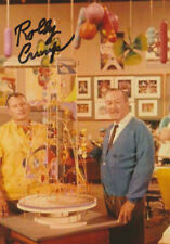 More details for wally crump designer disney imagineer signed 6x4 inch photo with walt disney