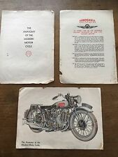 VTG 1930s Booklet The Anatomy of the Modern Motor Cycle Shell Oils Diagrams