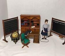 Vintage Dollhouse Furniture Lot. Chalkboards, Bookcases, Desk, Doll, Books,