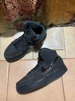 Nike Air Force 1 High (GS) Black/Black Big Kids Basketball Size 7Y 653998-001