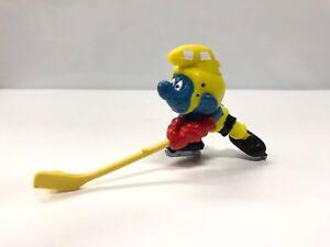 le schtroumpf hockey  5,5 cm figurine schtroumpfs neuf à très bon état #48