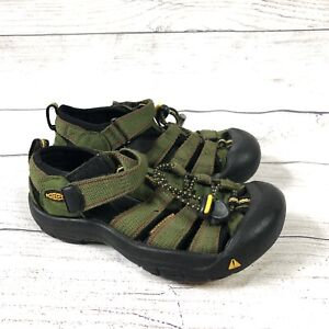 Keen Kids Boys Girls Newport H2 Sandals Shoes Size 11 Green, Waterproof, Read*