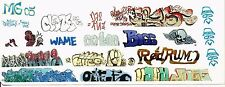 HO COLORFUL GRAFFITI DECALS ASSORTMENT 203  FREE SHIPPING DOMESTIC