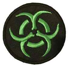 Bio Hazard Green Symbol Embroidered Sew or Iron on Patch (A)